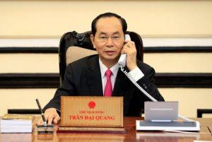 Chủ tịch nước Trần Đại Quang điện đàm với Tổng thống Mỹ