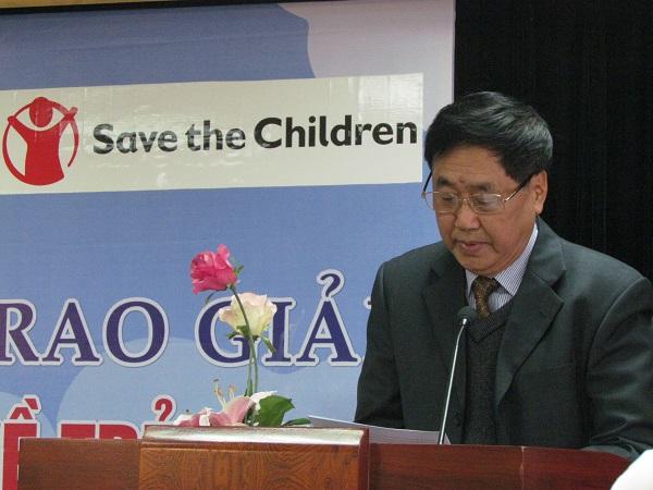 Ông Đỗ Đức Ngọ - Phó chủ tịch Hội bảo vệ quyền trẻ em Việt Nam phát biểu