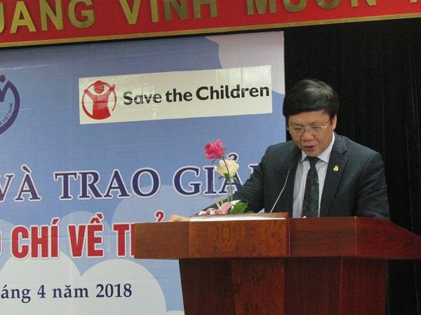 Ông Hồ Quang Lợi, Phó Chủ tịch thường trực Hội Nhà báo Việt Nam phát biểu.