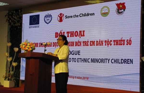 Bà Nguyễn Thị Thanh Hòa Chủ tịch Hội phát biểu khai mac