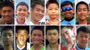 oàn bộ 13 thành viên đội bóng Thái Lan được giải cứu khỏi hang