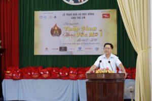 Ông Đỗ Đức Ngọ - Phó Chủ tịch Hội Bảo vệ quyền trẻ em Việt Nam phát biểu tại buổi lễ