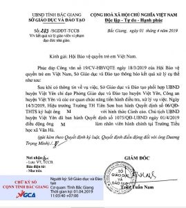 Kết quả xử lý giáo viên vi phạm đạo đức nhà giáo tại Bắc Giang